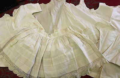 Lot of Antique Victorian White Cotten Children's Clothes Shirts Skirt Dresses