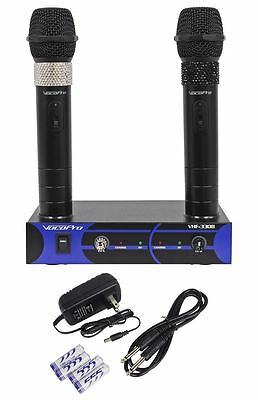 VocoPro VHF-3308-3 Dual Rechargable VHF Wireless Karaoke Microphone Mic System