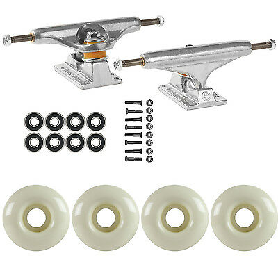 SKATEBOARD PACKAGE Independent 149 Trucks 52mm White Abec 7 Bearings