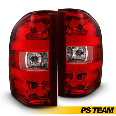 Left + Right Tail Lights Pair Replacement For 2007-2013 Silverado Pickup Truck