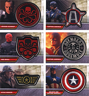 Captain America Movie Insignia Patch 6 Card Chase Set I-1 to I-6