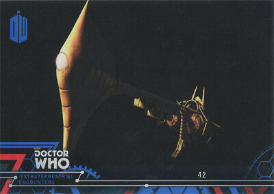 Doctor Who Extraterrestrial Encounters Blue Parallel Chase Card 76 #26/99