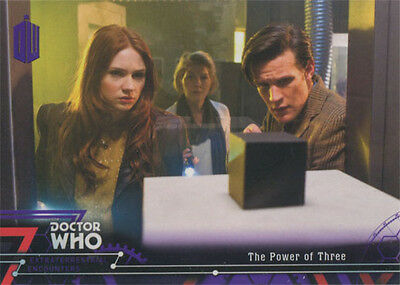 Doctor Who Extraterrestrial Encounters Purple Parallel Chase Card 88 #41/50
