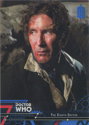 Doctor Who Extraterrestrial Encounters Blue Parallel Chase Card 8 #01/99