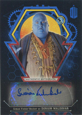 Doctor Who Extraterrestrial Encounters Autograph Card Simon Fisher-Becker #10/25