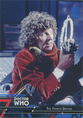 Doctor Who Extraterrestrial Encounters Blue Parallel Chase Card 4 #09/99