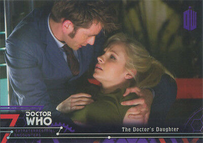 Doctor Who Extraterrestrial Encounters Purple Parallel Chase Card 80 #10/50