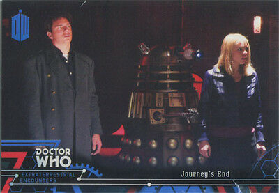 Doctor Who Extraterrestrial Encounters Blue Parallel Chase Card 82 #92/99