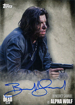 Walking Dead Season 5 Autograph Chase Card Benedict Samuel as Alpha Wolf