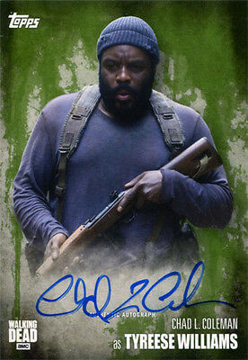 Walking Dead Season 5 Autograph Chad L. Coleman as Tyreese Williams Mold 08/25
