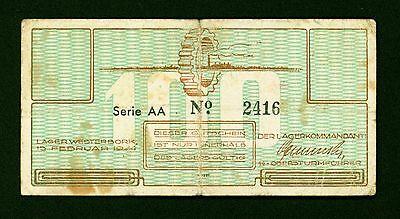 Netherlands Holocaust Westerbork Concentration Camp 100 Cents 1944 WWII