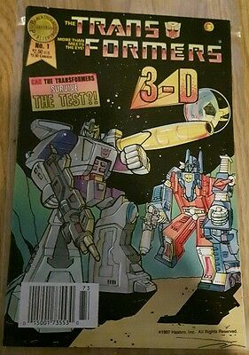 The Trans Formers 1,3-D,Blackthorne Incorporated Publishing 1987, RARE!