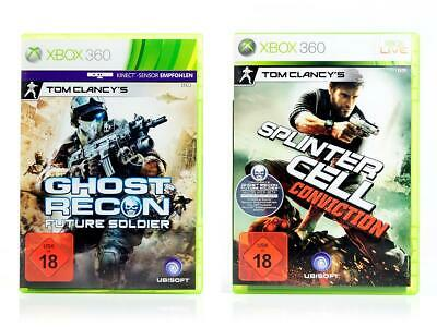 Xbox 360 2 Spiele TOM CLANCY PACK 2 - Splinter Cell Conviction Ghost Recon USK18