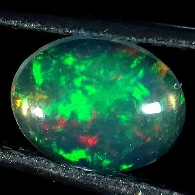 0.45cts.ROYAL 100% NATURAL MULTI POWER ETHIOPIAN OPAL OVAL CABOCHON GEMSTONE