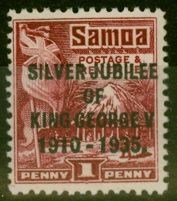 Samoa 1935 1d Lake SG177a P. 14 x 14.5 Fine Very Lightly Mtd Mint