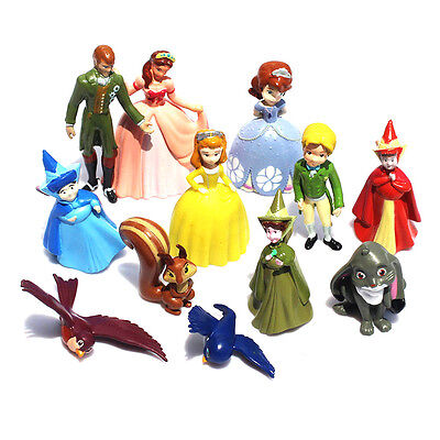 Princess Sofia The First Mini Figures Toys Set of 12 Characters