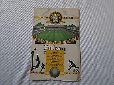 1948-49 FA CUP 5TH ROUND   WOLVERHAMPTON WANDERERS v LIVERPOOL