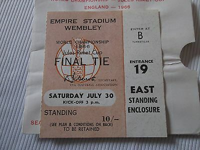 1966 WORLD CUP FINAL ENGLAND v WEST GERMANY TICKET STUB