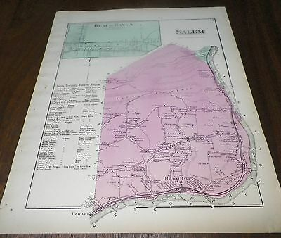 Salem Township Business Notices and Antique Map Beach Haven Salem