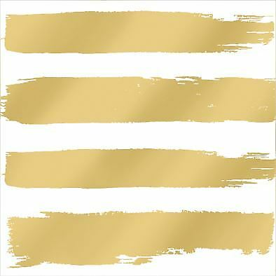 "PAINT BRUSH-STYLE STRIPES GOLD 3-PLY 20 PAPER NAPKINS SERVIETTES 13""x13""–33X33CM"