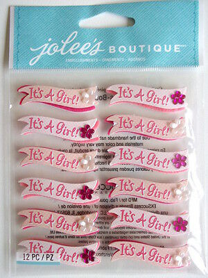 Jolee's Boutique Stickers - It's A Girl Banner Repeats