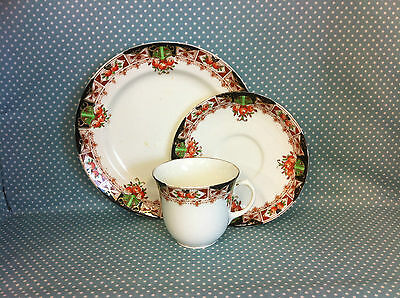 Antique Victorian Royal Sutherland China trio.Cup,saucer & side plate.Tea set.