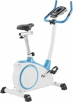 NEW Exercise Bike with Large Digital Display 16 Resistance Levels - White & Blue