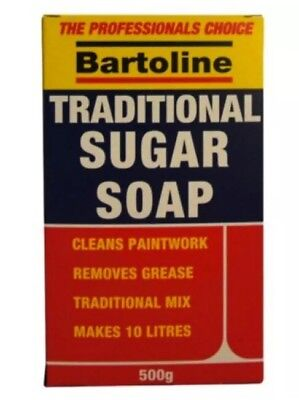Sugar Soap- Bartoline 500g Cleans Grease Paintwork General Household Cleaner