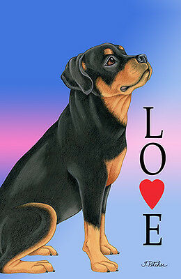 Large Indoor/Outdoor Love (TP) Flag - Rottweiler 60002