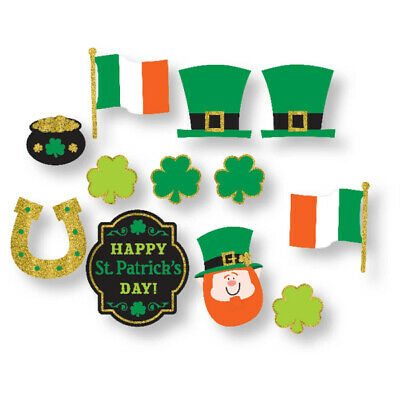 St Patricks Day Value Pack Printed Cut Outs - 12 Pieces