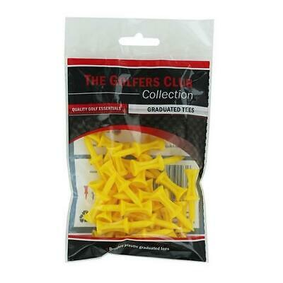 The Golfers Club Golf Graduated Yellow Plastic Tees (1.75 Inch x 30)