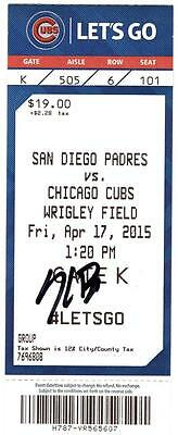 Kris Bryant Signed Atuographed Mlb Debut 1St Mlb Game Ticket Stub Jsa Autograph