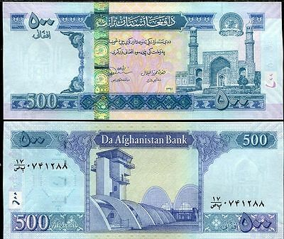 Afghanistan - 500 Afghanis - 2012 issue (year 1391) - UNC currency note