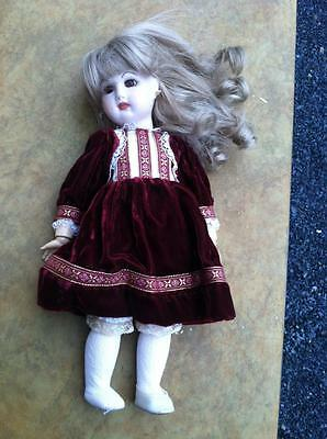 "Depose Jumeau Vintage Doll, Signed Approx 9"" Porcelain/Bisque/Wood? Closed Mouth"