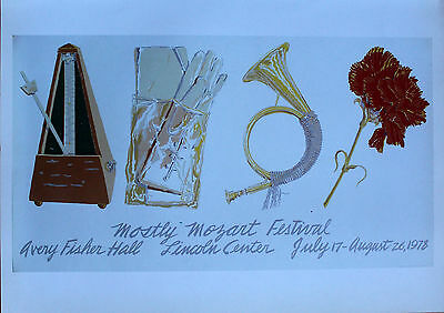 Don Nice Lithograph Mostly Mozart Festival Lincoln Center 1980