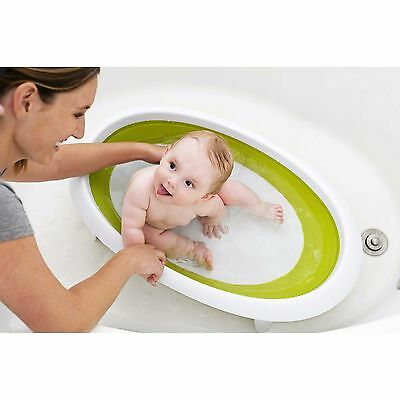 Boon Naked 2 position collapsable baby bath tub in green