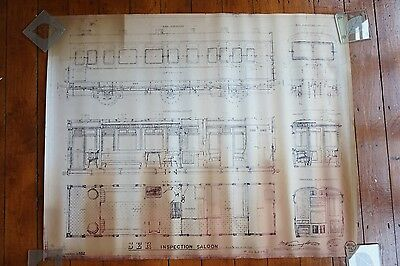 South Eastern & Chatham Railway Inpection Saloon Carriage Diagram Drawing