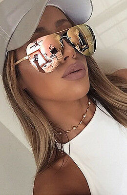 ITALY DESIGN V400*** ROSE-GOLD-Reflective-MIRRORED-AVIATOR-SUNGLASSES