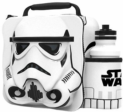 Offiziell Star Wars Thermo 3D Storm Trooper Jausentasche Box & Trinkflasche Set