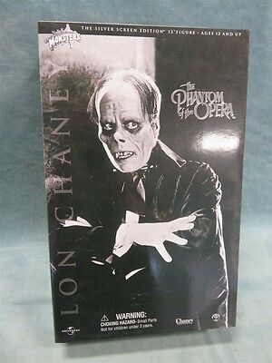 """Phantom of the Opera Sideshow Toys 12"""" Silver Screen Edition Universal SEALED"""