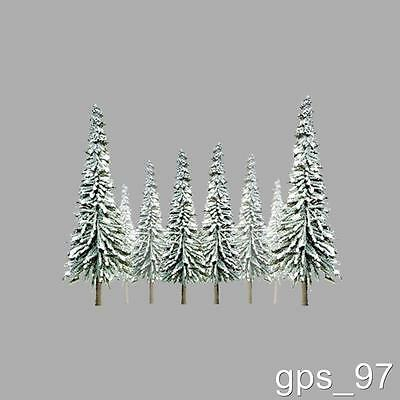 "Z - JTT TR-2005 Scenic Snow Spruce Trees 1"" - 2"" tall (Pack of 55 Pieces) - NIB"