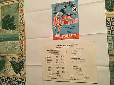 2 programmes from the 1968 Harlem Globetrotters game at Empire Pool, Wembley.