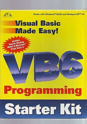 Vb6 Programming Starter Kit - Visual Basic 6 6.0 Pc Software - New & Sealed