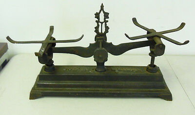 Antique Force 5 Kilo Cast Iron Balance Scale  ~ Free Shipping