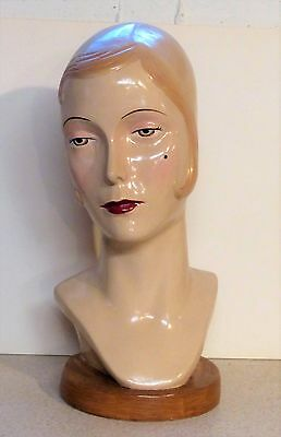 Beautiful Art Deco 1940's Look Katherine's Collection Female Mannequin Head