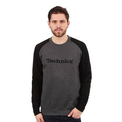 Technics - Baseball Sweatshirt Black / Grey Pullover Rundhals