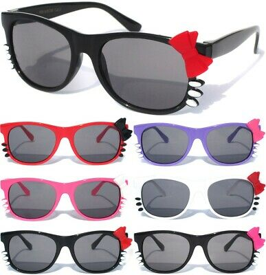 3c757f2d2e Small Kid Child Size Kitty Cat Sunglasses Little Girls Color Frame Bow Cute  New