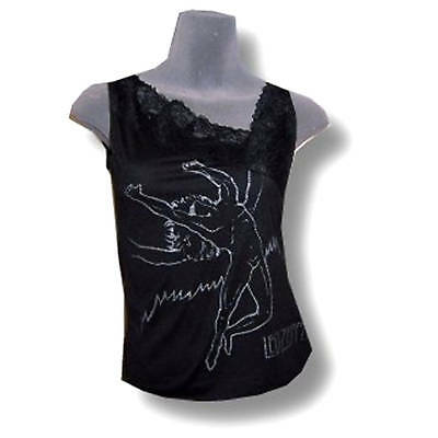 Led Zeppelin! Swan Song Womens Lace Trimmed Tank Top Shirt Xs X-Small New