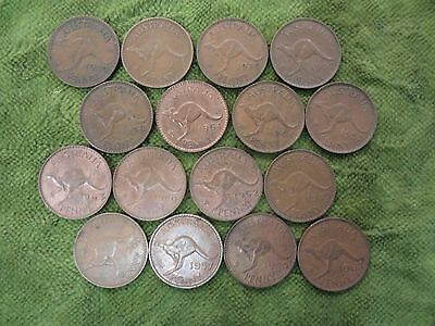 Half A  Square Metre  Of Australian  Kangaroo  Penny Coins For Craft Work, Etc