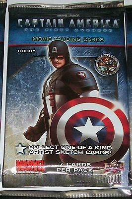 2011 Upper Deck Captain America: The First Avenger [movie] sealed pack